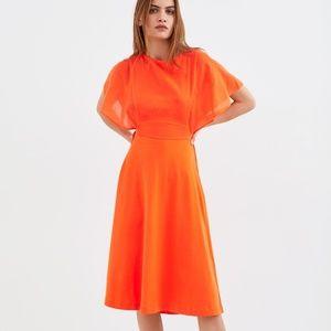 ZARA WOMEN OPEN BACK DRESS ORANGE - 0085/337